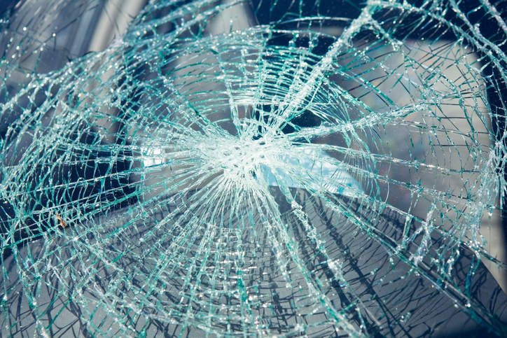 Shattered Car Glass