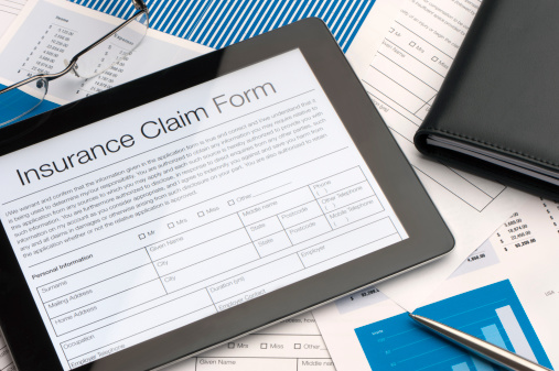 Insurance Claim Form on iPad