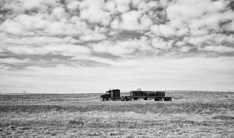 Truck on Canadian Prairie